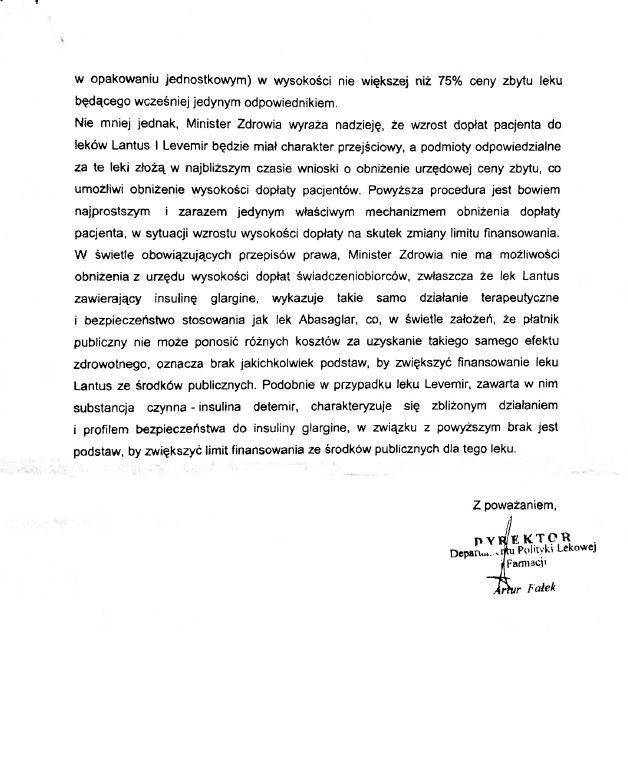 Ministerstwo Zdrowia o podwyżce cen insulin cz. 3