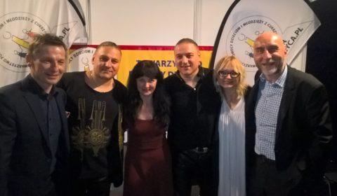 I jeszcze pamiątka... od lewej Paweł Solarz (Radio Kielce), Paweł Golec, Irena Guszczyńska, Łukasz Golec, Edyta Golec i Mariusz Masiarek