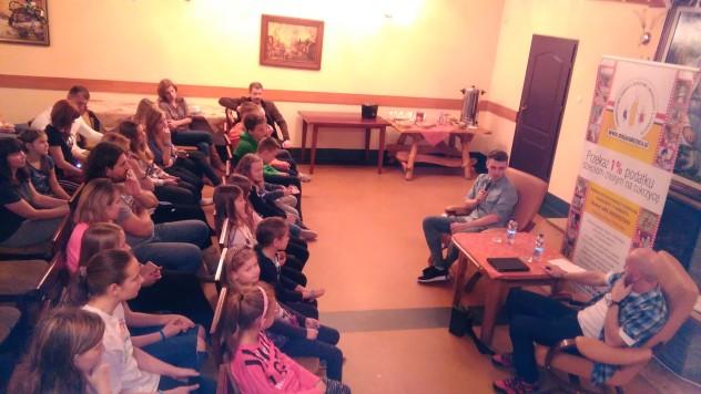 Spotkanie z Damianem Kordasem poprowadził Mariusz Masiarek